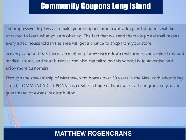 Community Coupons