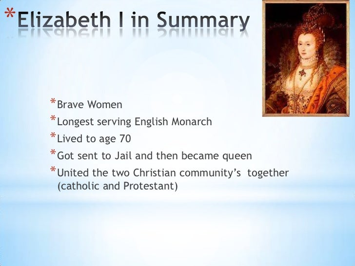 Queen elizabeth summary