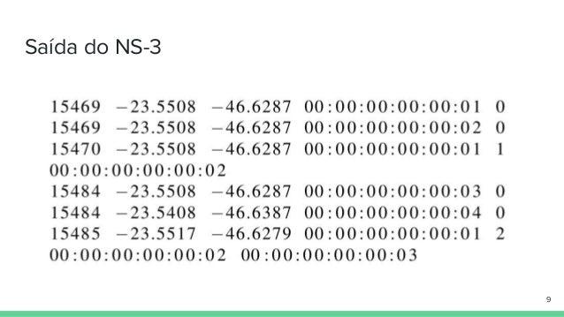 Saída do NS-3 9