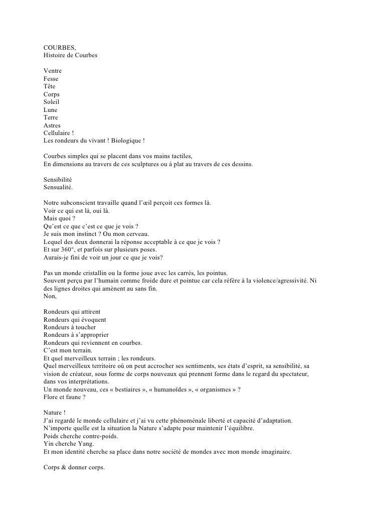 COURBES, Histoire de Courbes  Ventre Fesse Tête Corps Soleil Lune Terre Astres Cellulaire ! Les rondeurs du vivant ! Biolo...