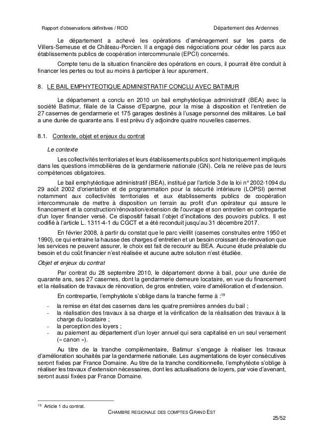 Chambre r gionale des comptes sur le bea dans les ardennes - Chambre regionale des comptes recrutement ...