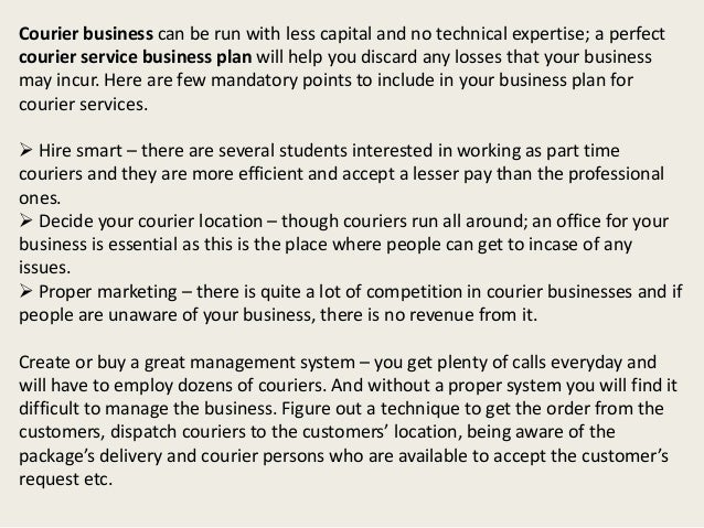 delivery service business plan template pdf