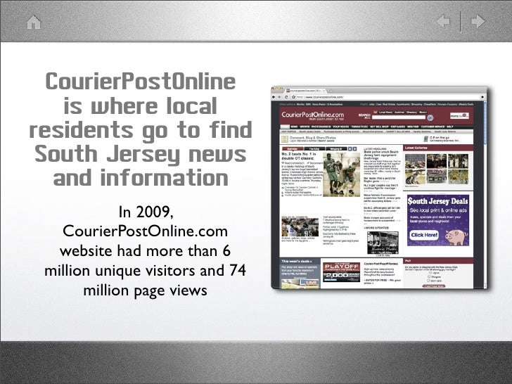 CourierPostOnline     is where local residents go to find  South Jersey news    and information              In 2009,    C...