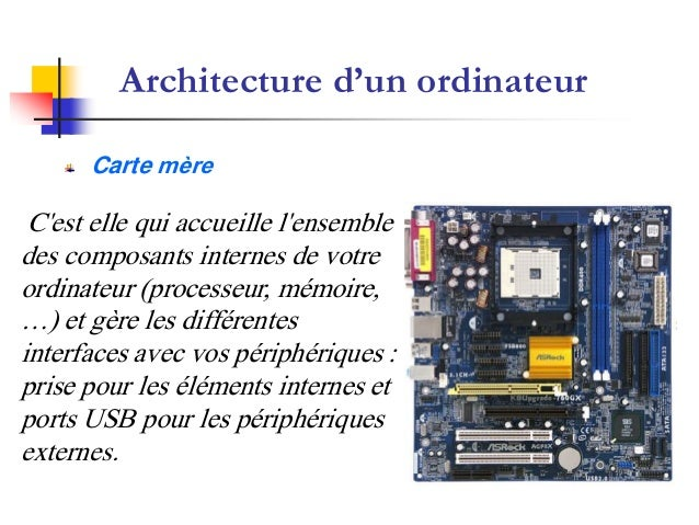 Cours d 39 informatique du prof heimer for Interieur unite centrale