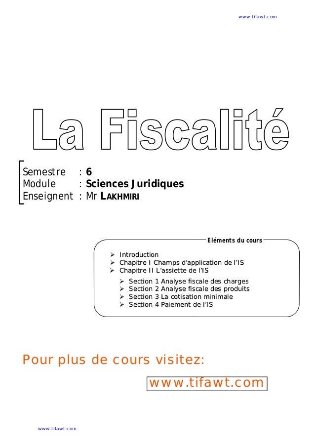 Semestre : 6 Module : Sciences Juridiques Enseignent : Mr LAKHMIRI  IInnttrroodduuccttiioonn  CChhaappiittrree II CChh...