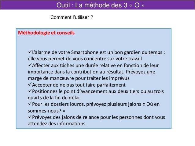 Méthodologie et conseils L'alarme de votre Smartphone est un bon gardien du temps : elle vous permet de vous concentre su...