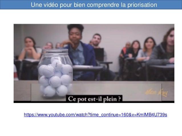 Une vidéo pour bien comprendre la priorisation https://www.youtube.com/watch?time_continue=160&v=KmIMB4U739s