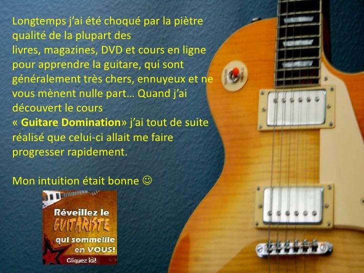 Cours de guitare en ligne Slide 2