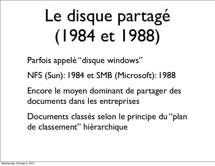 """Le disque partagé                              (1984 et 1988)                    Parfois appelé """"disque windows""""          ..."""