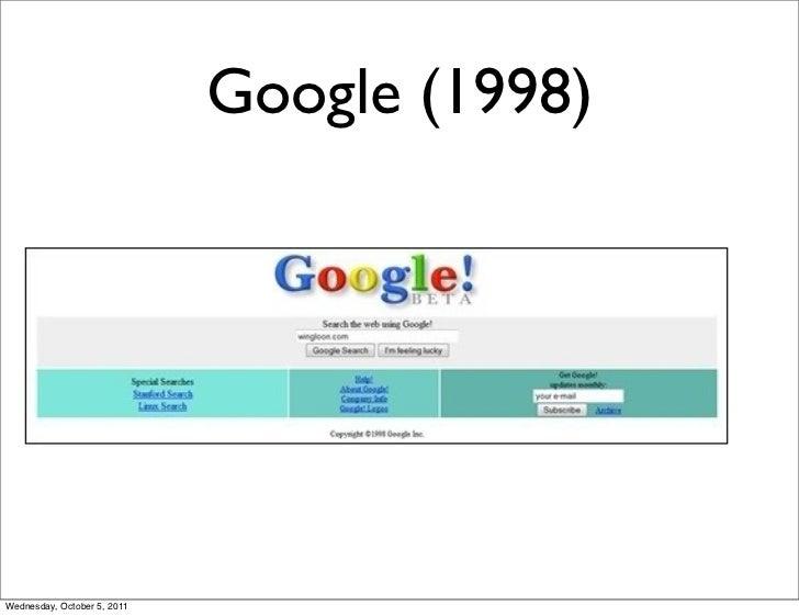 Google (1998)Wednesday, October 5, 2011