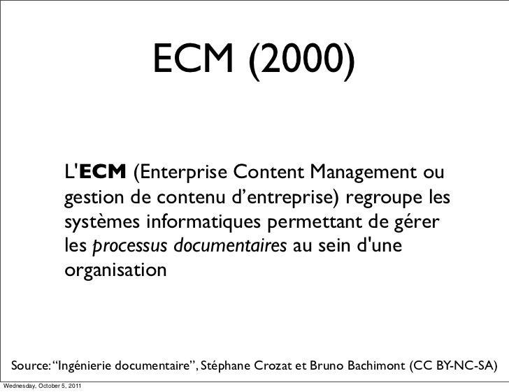 ECM (2000)                    LECM (Enterprise Content Management ou                    gestion de contenu d'entreprise) r...