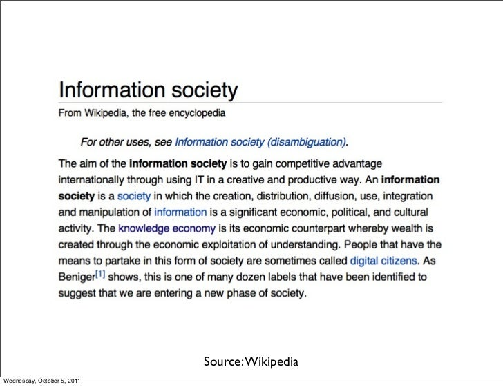 Source: WikipediaWednesday, October 5, 2011