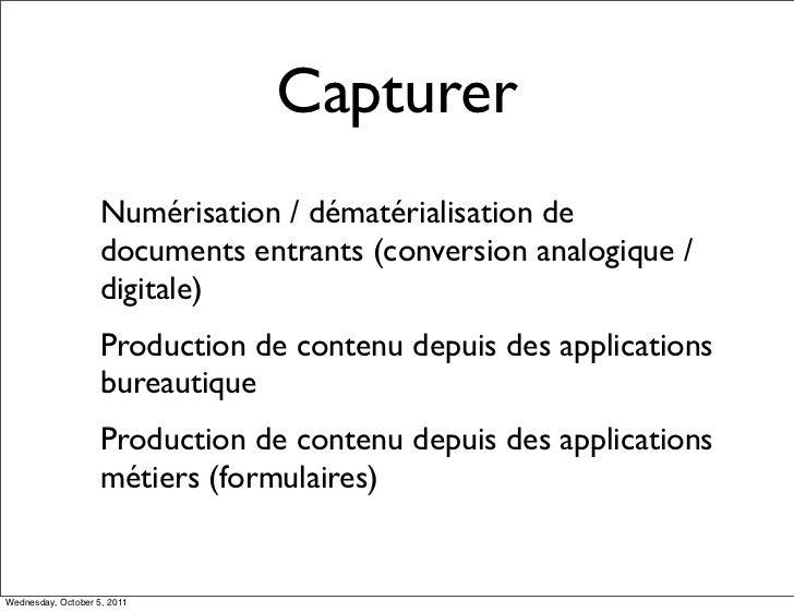 Capturer                    Numérisation / dématérialisation de                    documents entrants (conversion analogiq...