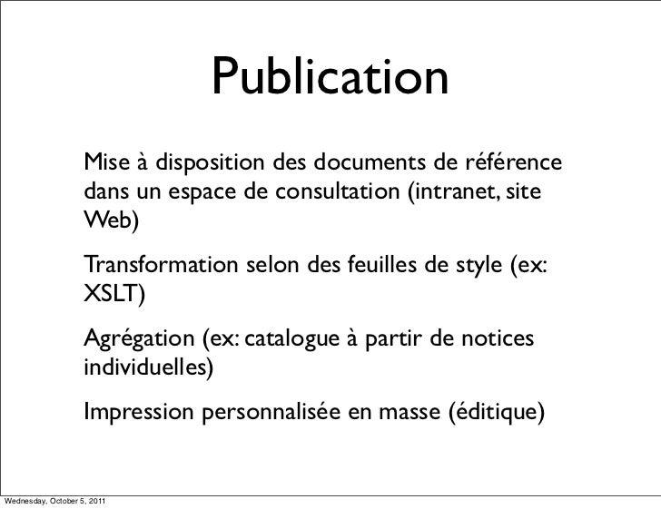 Publication                    Mise à disposition des documents de référence                    dans un espace de consulta...