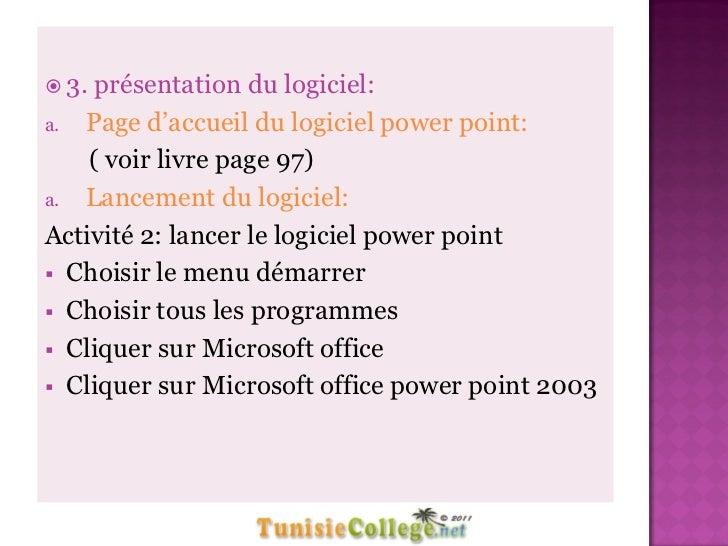 Cours Informatique Elements De Presentation 8eme