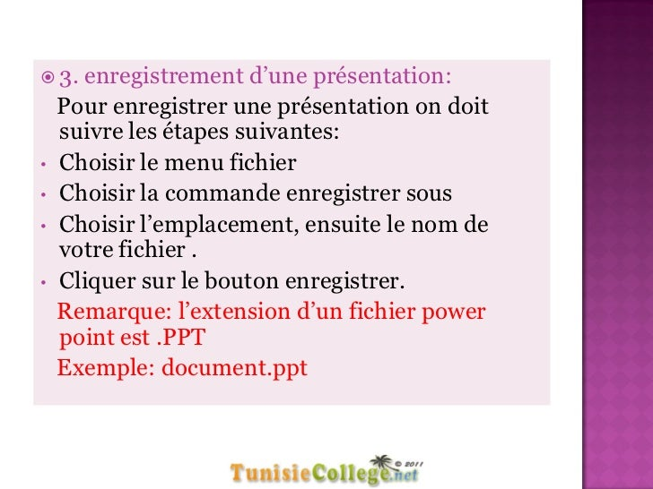 Cours Informatique Elements De Presentation 8eme
