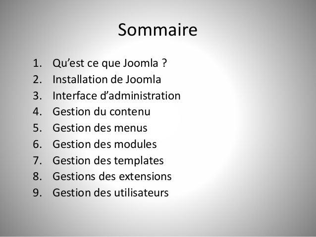 Prise en main de Joomla Slide 3