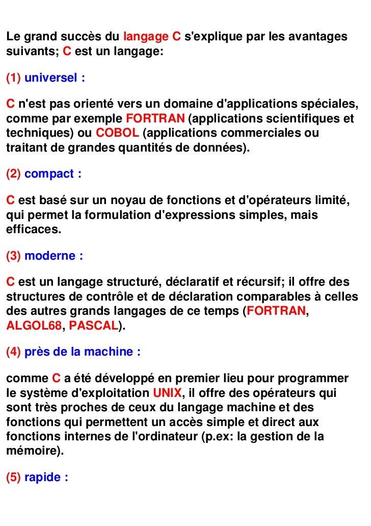 langage c programmation cours pdf