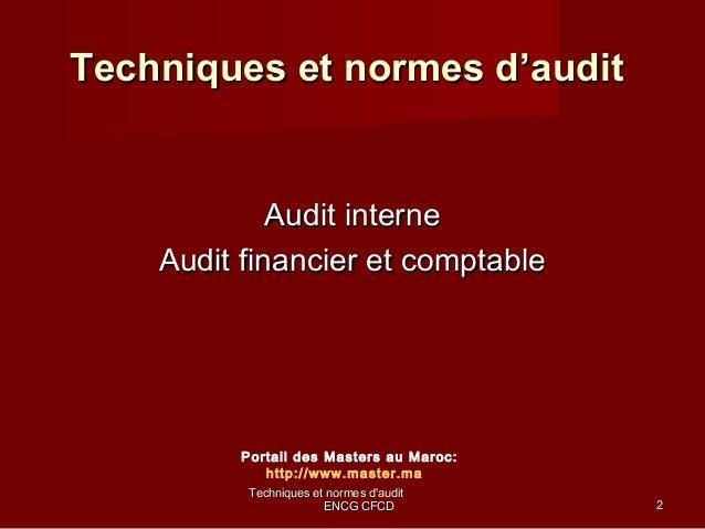 cours master audit comptable financier www cours economie