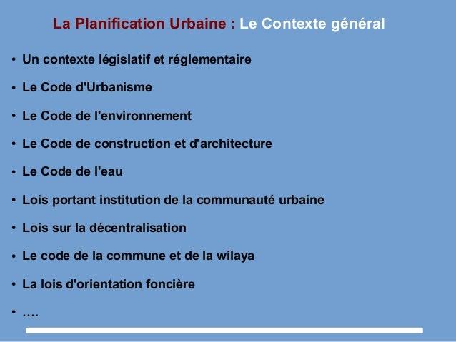 Cours n 05 la planification urbaine durable for Definition architecture reseau