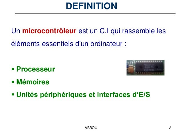 COURS MICROCONTROLEUR 68HC11 PDF