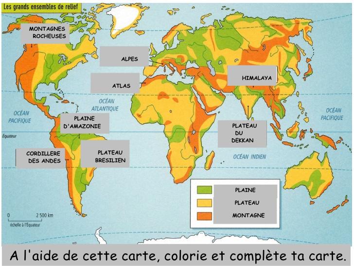 Carte Bresil Relief.Bresil Montagnes Carte