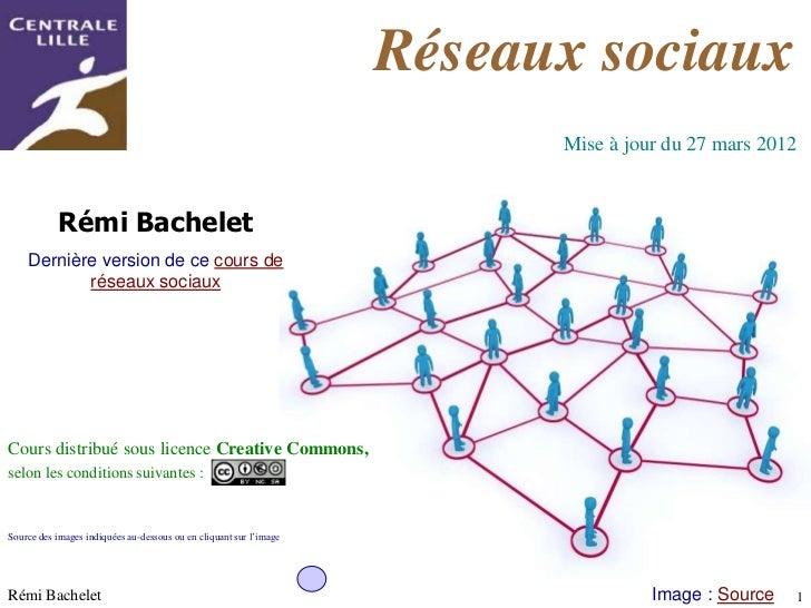 Réseaux sociaux                                                                          Mise à jour du 27 mars 2012      ...