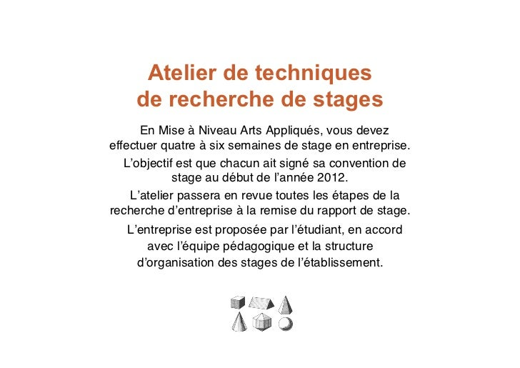 recherche de stages mnaa artigraph 2011