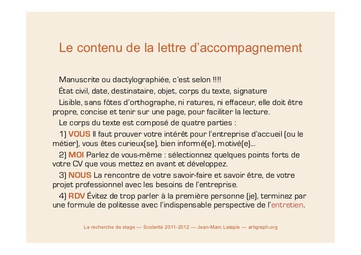 mail d accompagnement candidature stage