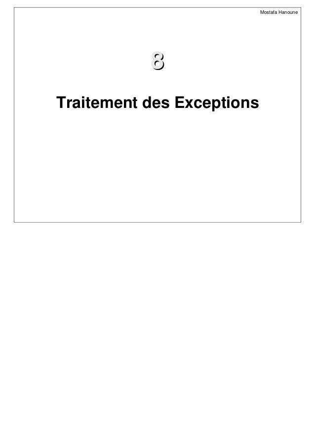 88 Mostafa Hanoune Traitement des Exceptions