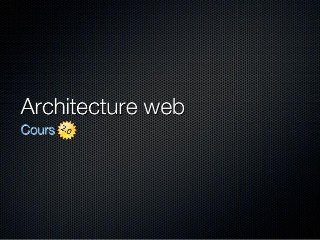 Architecture web Cours