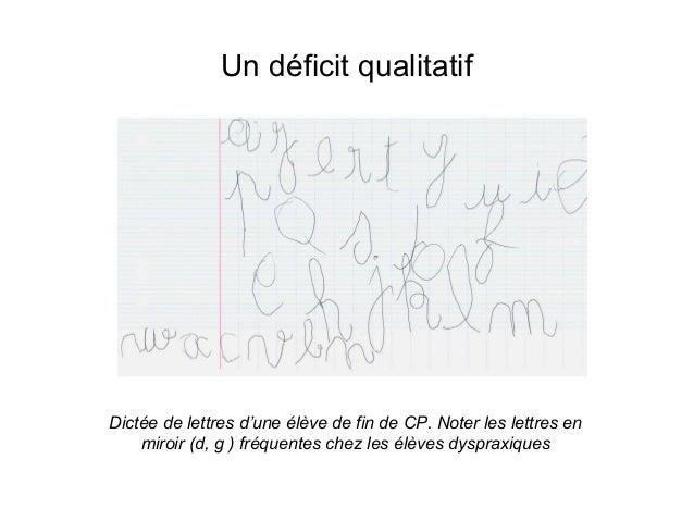 Dyspraxie  comment présenter un document   DYSPOSITIF
