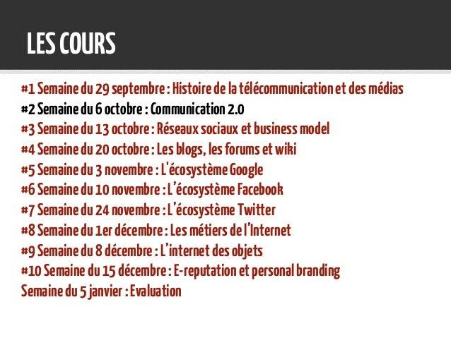 Cours #2 Communication 2.0, communication sur les médias sociaux Slide 3