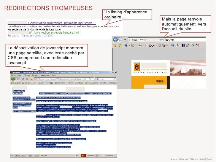 REDIRECTIONS TROMPEUSES                                            Un listing d'apparence                                 ...