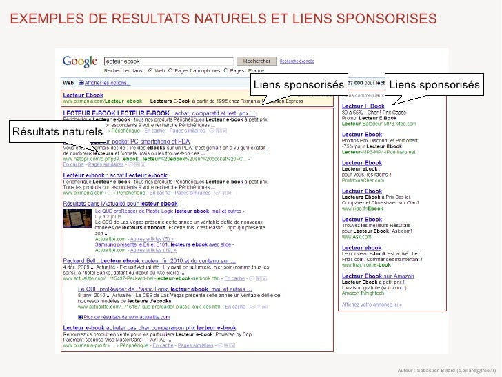 EXEMPLES DE RESULTATS NATURELS ET LIENS SPONSORISES                                 Liens sponsorisés   Liens sponsorisés ...