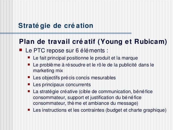 publicit233 strat233gie de cr233ation