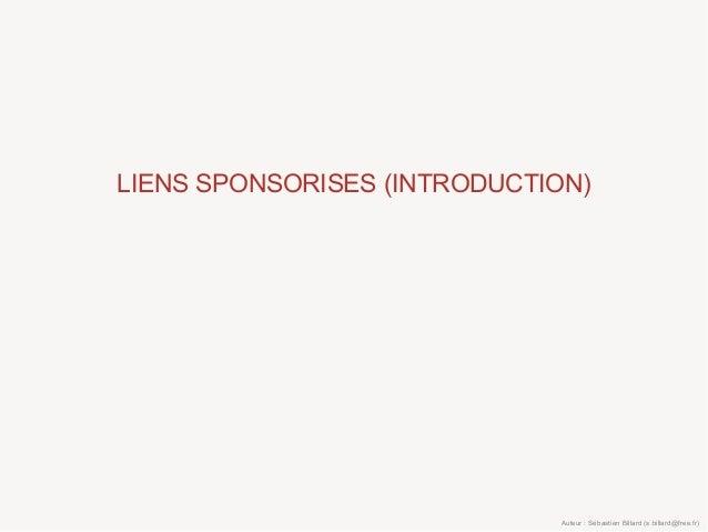 LIENS SPONSORISES (INTRODUCTION) Auteur : Sébastien Billard (s.billard@free.fr)