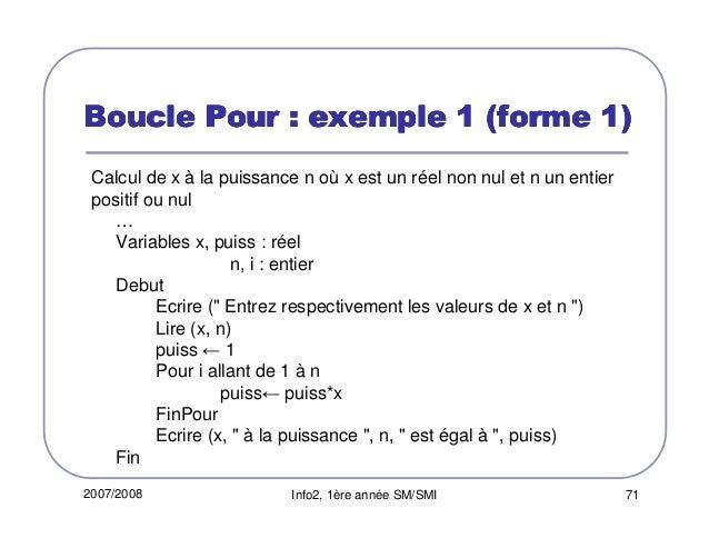 Utilisation d'une boucle dans un algorithme - Page 2\/3 ...