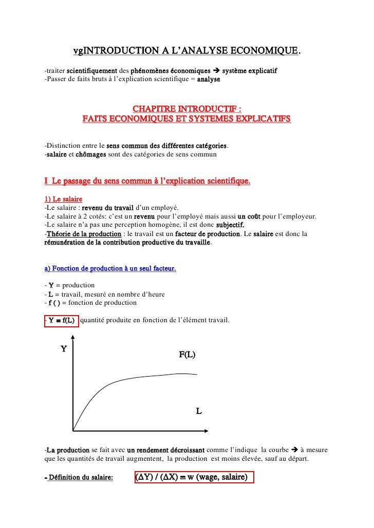 vgINTRODUCTION A L'ANALYSE ECONOMIQUE. -traiter scientifiquement des phénomènes économiques  système explicatif -Passer d...