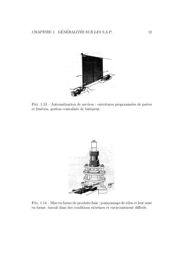 CHAPITRE 1. G´EN´ERALIT´ES SUR LES S.A.P. 12  Fig. 1.13 – Automatisation de services : ouvertures programm´ees de portes  ...