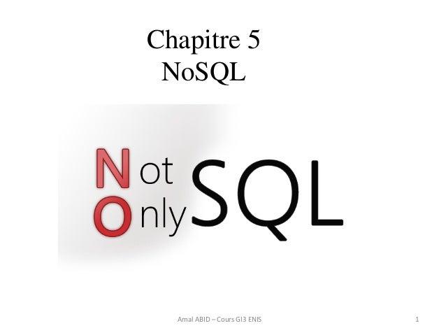 1 Chapitre 5 NoSQL Amal ABID – Cours GI3 ENIS