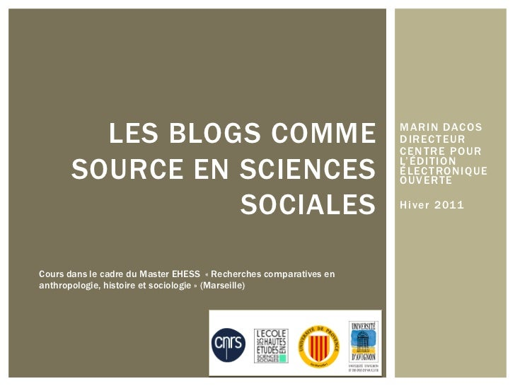 LES BLOGS COMME                                            MARIN DACOS                                                    ...
