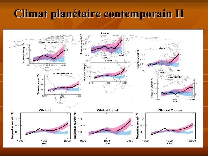 Climat planétaire contemporainII