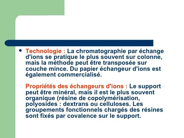 Cours chromato2 - Chromatographie sur couche mince principe ...