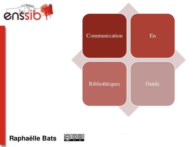 Communication, novembre 2011 Raphaëlle Bats Communication En Bibliothèques Outils