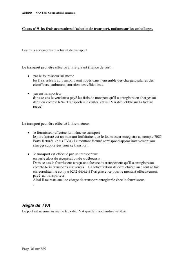 Cours Complet De Comptabilite Generale Www Cours Economie Com