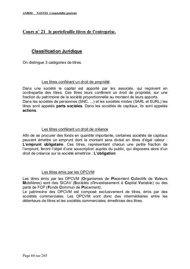 Cours De Comptabilite Generale Pdf