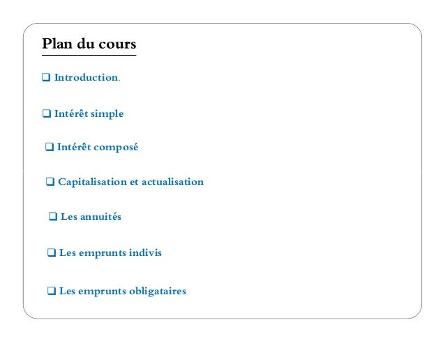 Cours complet math financi re for Table financiere