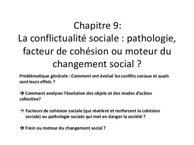 Dissertation changement social conflits
