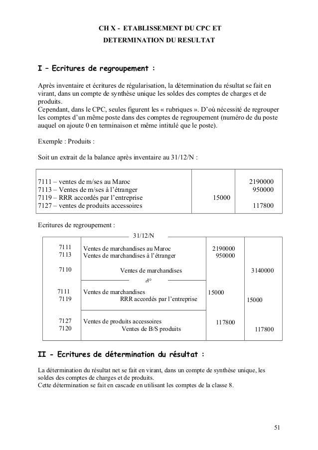 Cours de comptabilité générale travaux de fin d'exercice